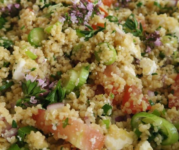 Couscous salat med lækker dressing