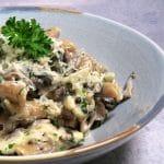 Pasta i mascarpone med blomkål og champignon