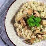 Risotto med svampe og parmesan