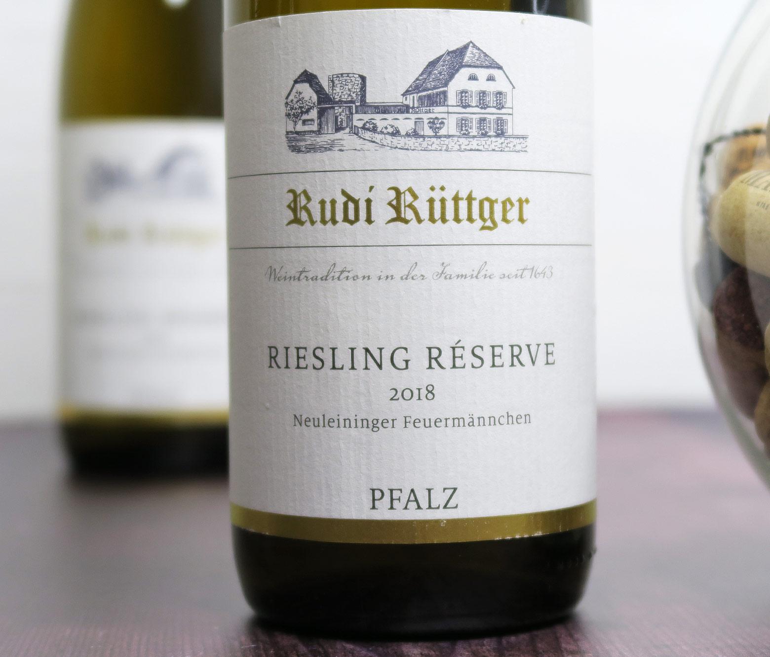 Rudi Rüttger Riesling Réserve trocken 2018