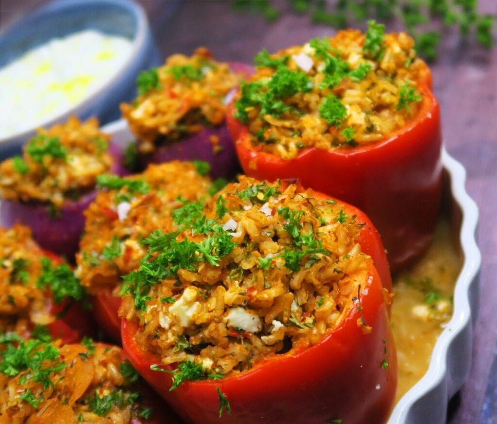 Yemista - græske fyldte grøntsager i ovn