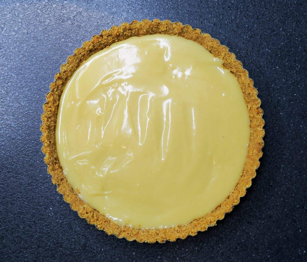 Banoffee pie - banantærte med kiks og karamelfyld