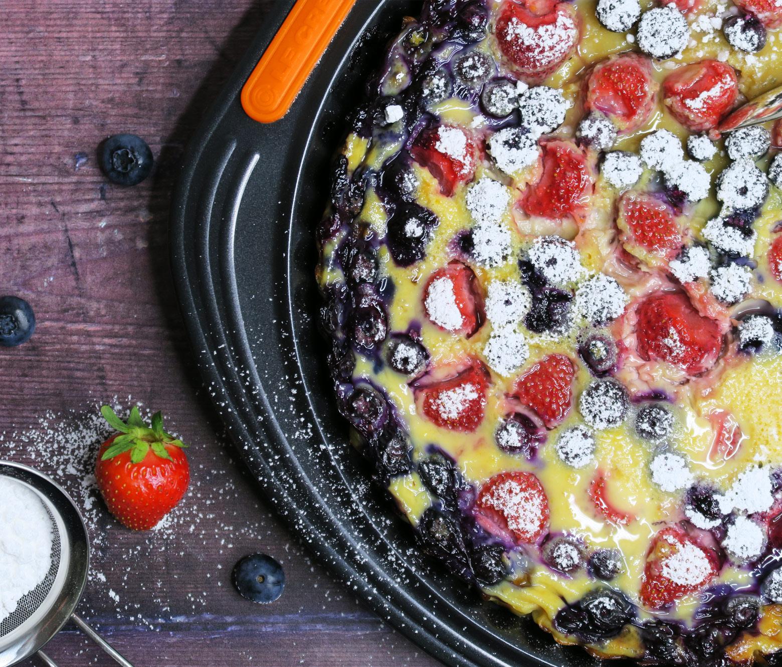 Clafoutis med friske bær