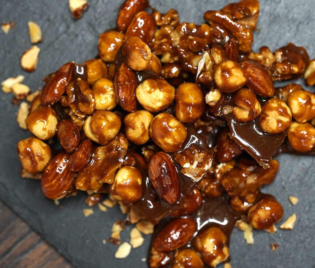 Karamelliserede nødder